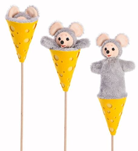 Mouse and Cheese Wedge Cone Puppet