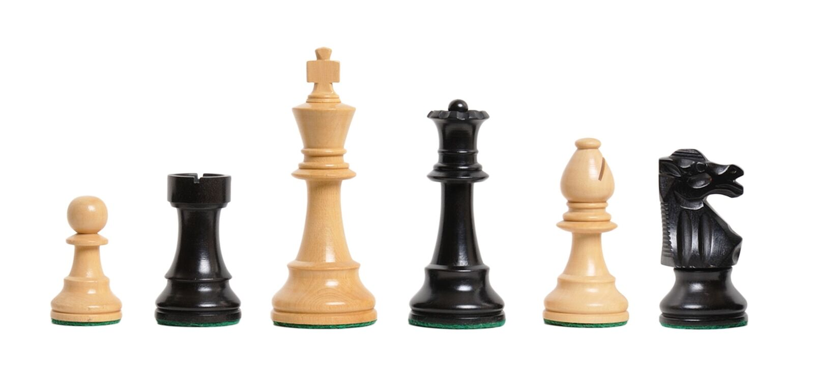 The Club Chess Set - Pieces Only - 3.75  re - Ebonized scatolawood