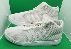 adidas veritas mid b34530 triple white casual basketball