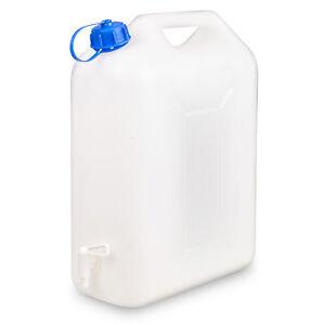 10L Plastic Water Container Jerry Can Carrier Drum Spout Faucet Tap Dispenser