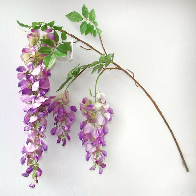 100cm Artificial Wisteria Spray - Purple/Pink - Decorative Plant/Flower