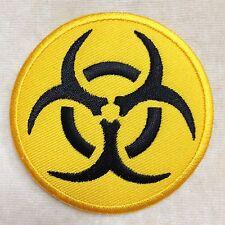 BIO HAZARD BIOHAZARD RADIATION DANGEROUS SIGN EMBROIDERY IRON ON PATCH BADGE