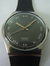 GY116 Swatch - 1989 Iron Man Classic Silver Grey Artistic Swiss Made Authentic