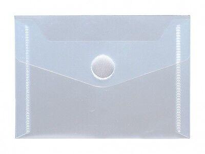 10x Dokumententaschen Umschläge Klettverschluss A5 quer blau transparent