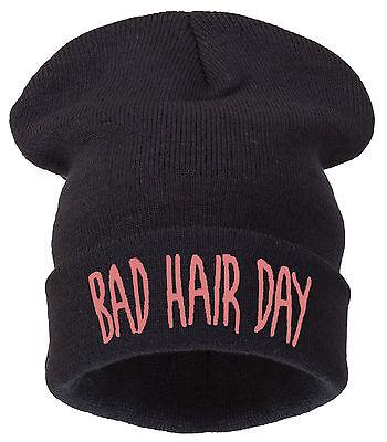Men's Women's Bad Hair Day Oversized Slouch Beanie Hat Cap skateboard