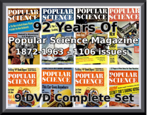 POPULAR-SCIENCE-MAGAZINE-1106-ISSUES-1872-1964-92-YEARS-COMPLETE-ON-8-DVD
