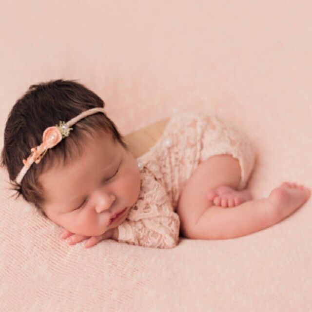 ee6783c06ef7 Vintage Newborn Baby Girl Lace Romper Bodysuit Pearl Photography Props  Costume