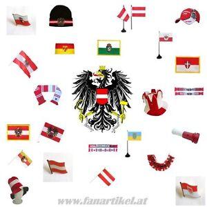 Osterreich-Fanshop-Fanartikel-Schal-Fahne-Pin-Aufkleber-Cap-Wimpel