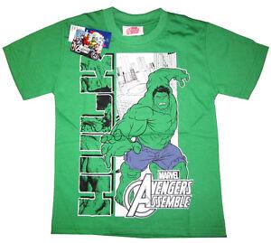 Marvel Avengers Assemble Boy/'s L 10//12 T-Shirt Orange Tee Thor Iron Man Hulk