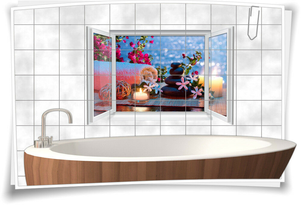 Piastrelle Adesivo Piastrelle Immagine Piastrelle CANDELE CANDELE CANDELE Wellness Spa Decorazione Adesivo bagno e WC ae3e26