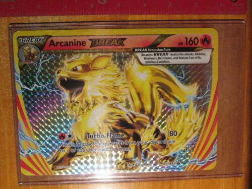 NM JUMBO Pokemon ARCANINE BREAK Card BLACK STAR PROMO Set XY180 OVERSIZED Large