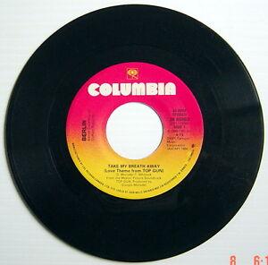 ONE-1986-039-S-45-R-P-M-RECORD-BERLIN-amp-GIORGIO-MORODER-TAKE-MY-BREATH-AWAY-RA