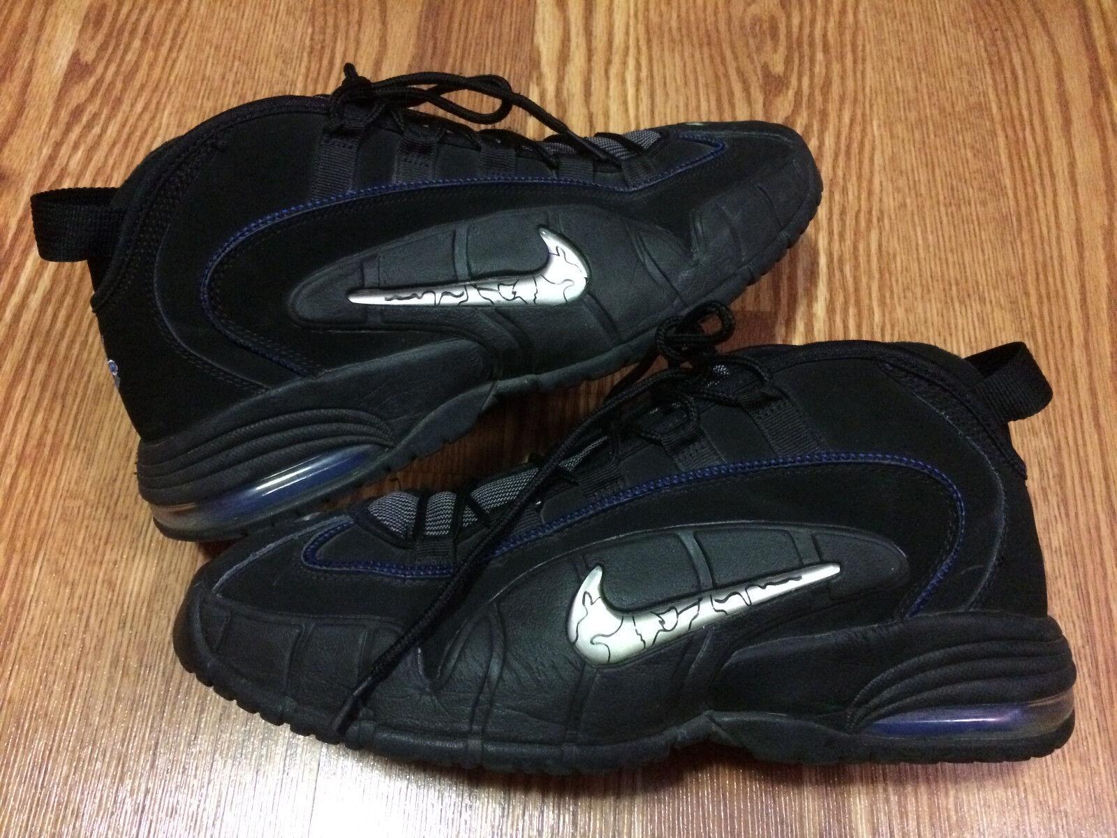 pretty nice be25a 4f791 Nike Air Max Penny 1 685153-001 Black Game Royal-Metallic Silver-White SZ  12 new