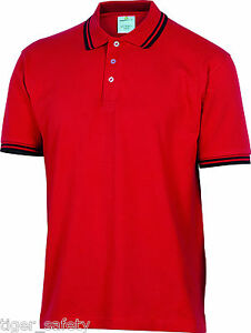 Delta-Plus-Panoply-Agra-Mens-Red-Cotton-Polo-Shirt-Work-T-Shirt-Tee-Shirt-BNWT