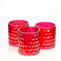Richland Votive & Tealight Candle Holder Chunky Honeycomb Glass Set Of 48