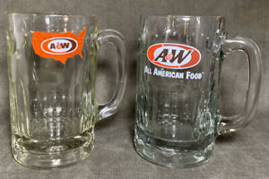 2-Vintage-90-039-s-A-amp-W-Root-Beer-Restaurant-Drive-In-Mugs-United-States-Glassware