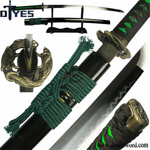 Full-Handmade-T10-Carbon-Steel-Clay-Tempered-Blade-Japanese-Samurai-Katana-Sword