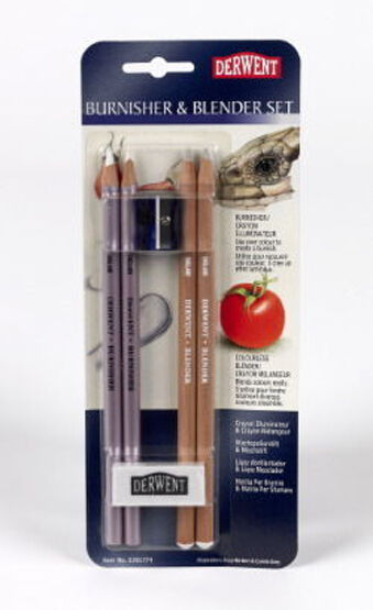 Derwent Blender and Burnisher Blister Set - For Pencil Drawing & Sketching