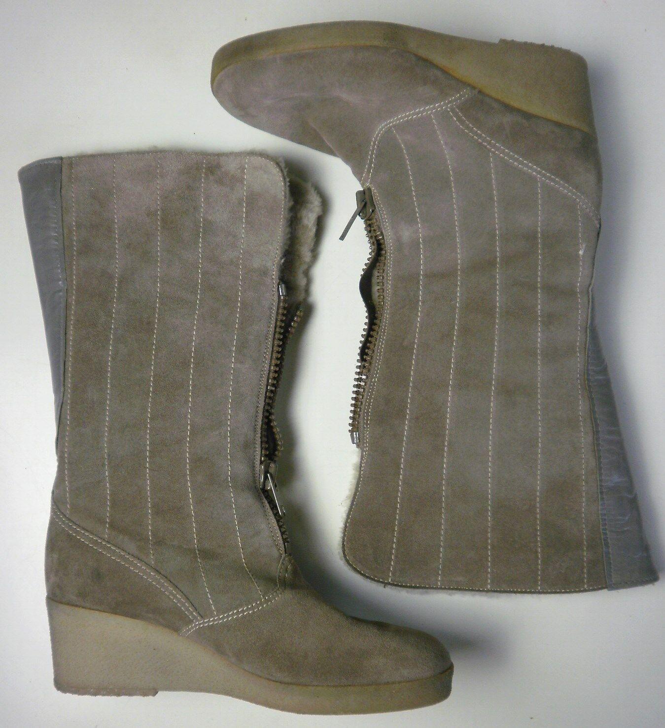 ARA Wildleder Damen Stiefel Boots Grau Wildleder ARA Futter Biberlamm True Vintage Winterboots a5128b