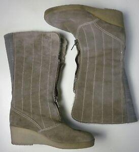 Boots Zu Biberlamm Wildleder Details Vintage Stiefel Damen Grau Winterboots True Futter Ara Yfy6gb7