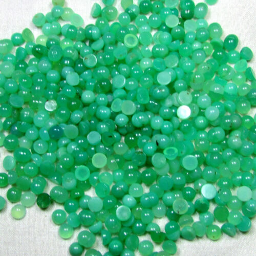 Details about  /5mm Round Shape Natural Chrysoprase Cabochons Loose Gemstone Lot 5x5mm