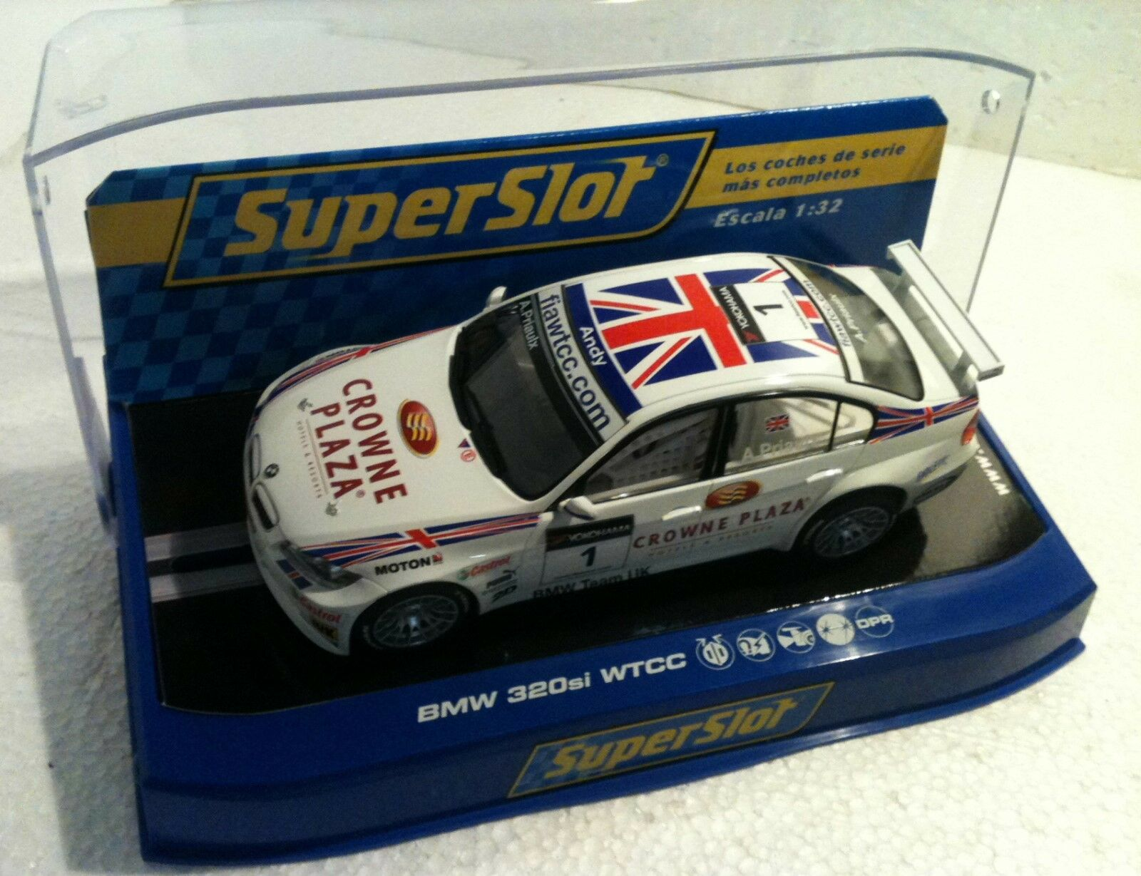 Qq H 2714 SUPERSLOT BMW 320si WTCC TO PRIAUX CROWNE PLAZA - scalextric UK