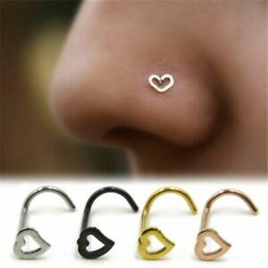 Nose Ring Piercing Nose Stud Nose Ring 14k Solid Rose Gold