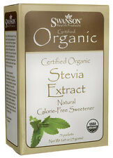 ORGANIC STEVIA EXTRACT POWDER 100% NATURAL CALORIE FREE SWEETENER 75 PACKETS 75G