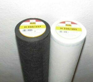 Vlieseline Bügelvlies H250 schwarz 90cm Breite