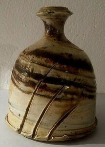 Ceramique-gres-tres-beau-vase-signe-Gil-Browaeys-XXeme