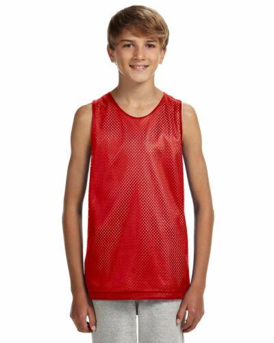A4 T-Shirt Youth Reversible Mesh Tank N2206
