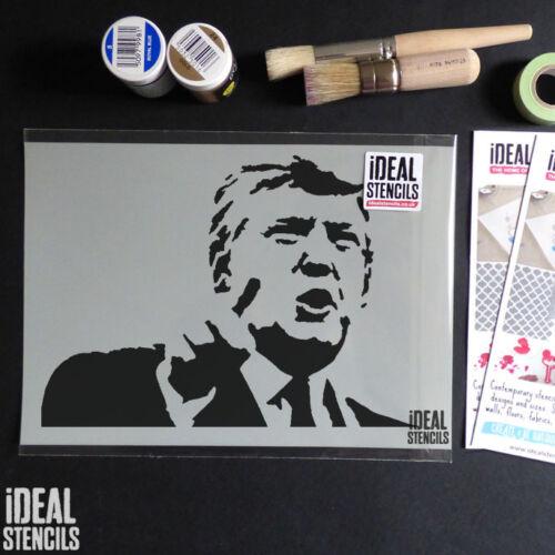 Farbe Wände Möbel Wiederverwendbare Stoffe Donald Trump Bild Schablone