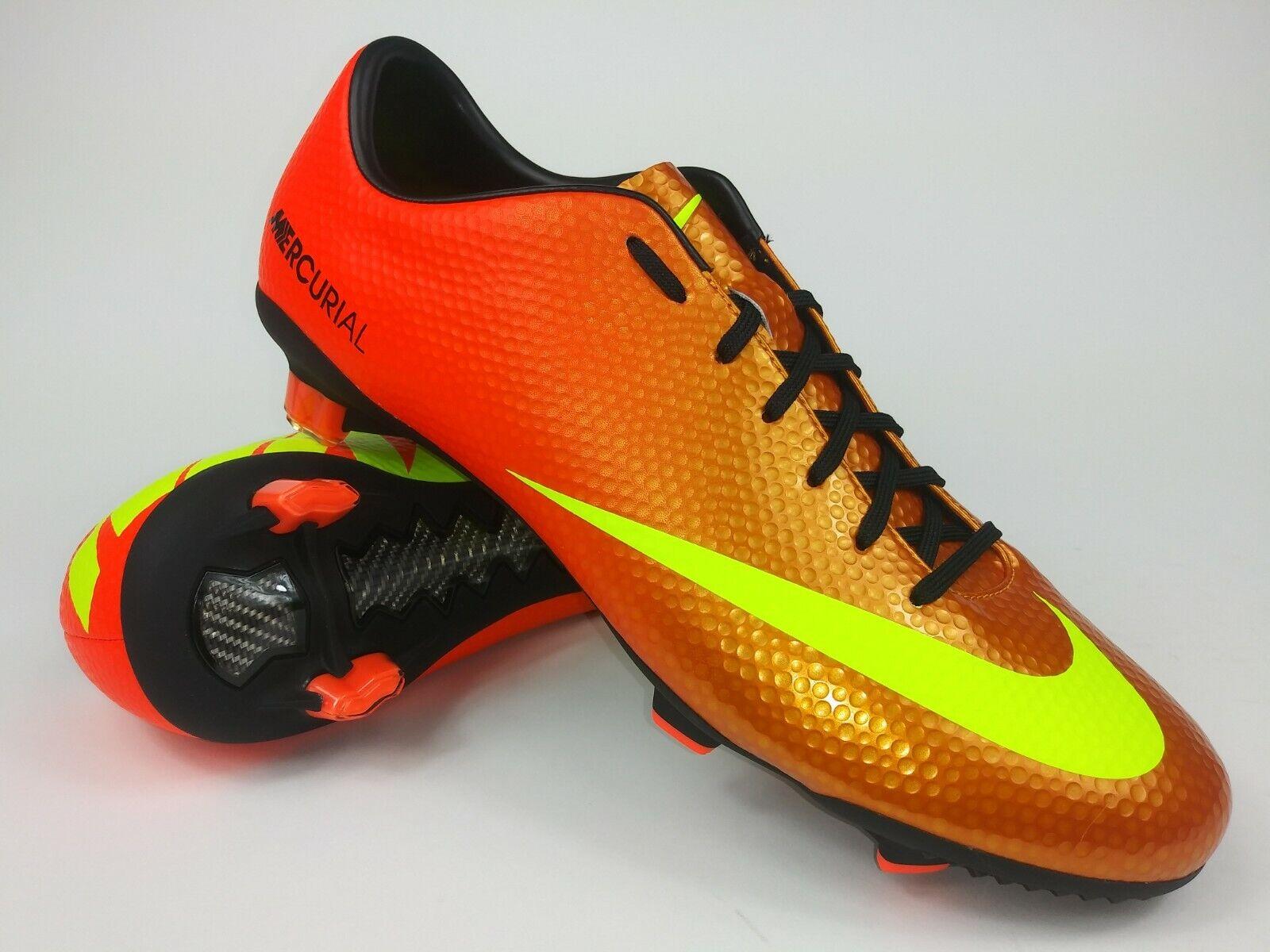 Nike Hombre Rareza Mercurial Veloce Fg 555447 778 Naranja Fútbol Tacos botas de