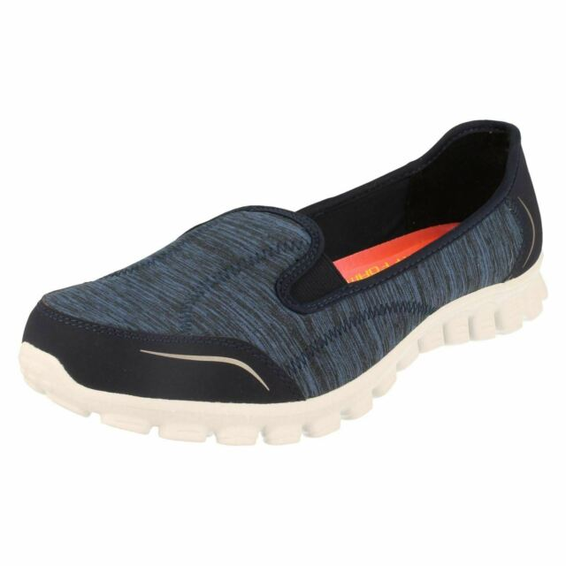 LADIES SKECHERS EZ FLEX 2 ENCOUNTER SLIP ON MEMORY FOAM TRAINERS SHOES 22641