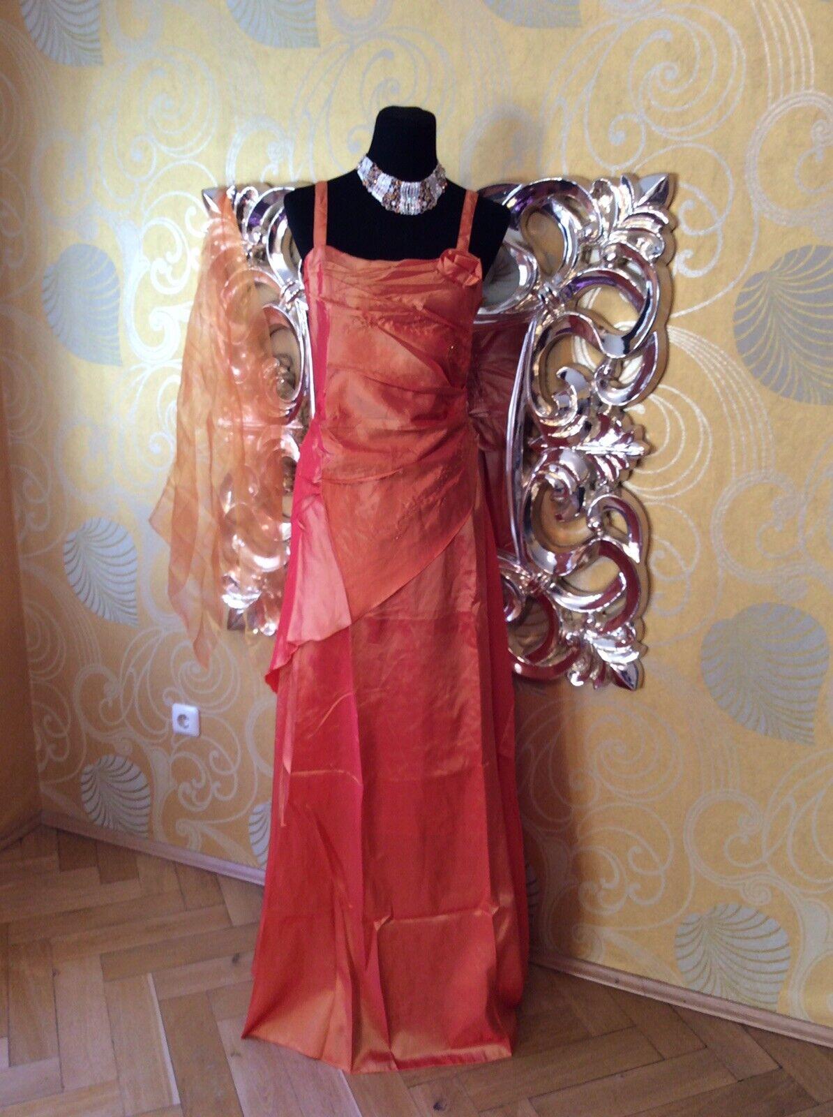 Abendkleid Ballkleid Brautkleid Maxikleid Kleid Taft in Orange ( ( ( 474), Gr. 50   Ausgang    Sehen Sie die Welt aus der Perspektive des Kindes    Genial Und Praktisch  2d0abb