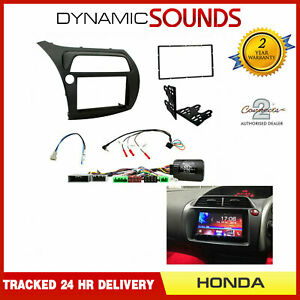 CTKHD01L LHD Double Din Fascia & Steering Kit For Honda Civic Type R 2006 -2011