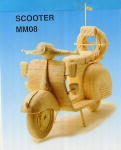 Details about SCOOTER MOTORBIKE MOTORCYCLE MATCHSTICK MODEL CRAFT KIT,  BRAND NEW