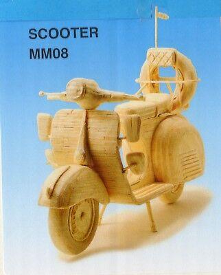 SCOOTER MOTORBIKE MOTORCYCLE MATCHSTICK MODEL CRAFT KIT, BRAND NEW | eBay