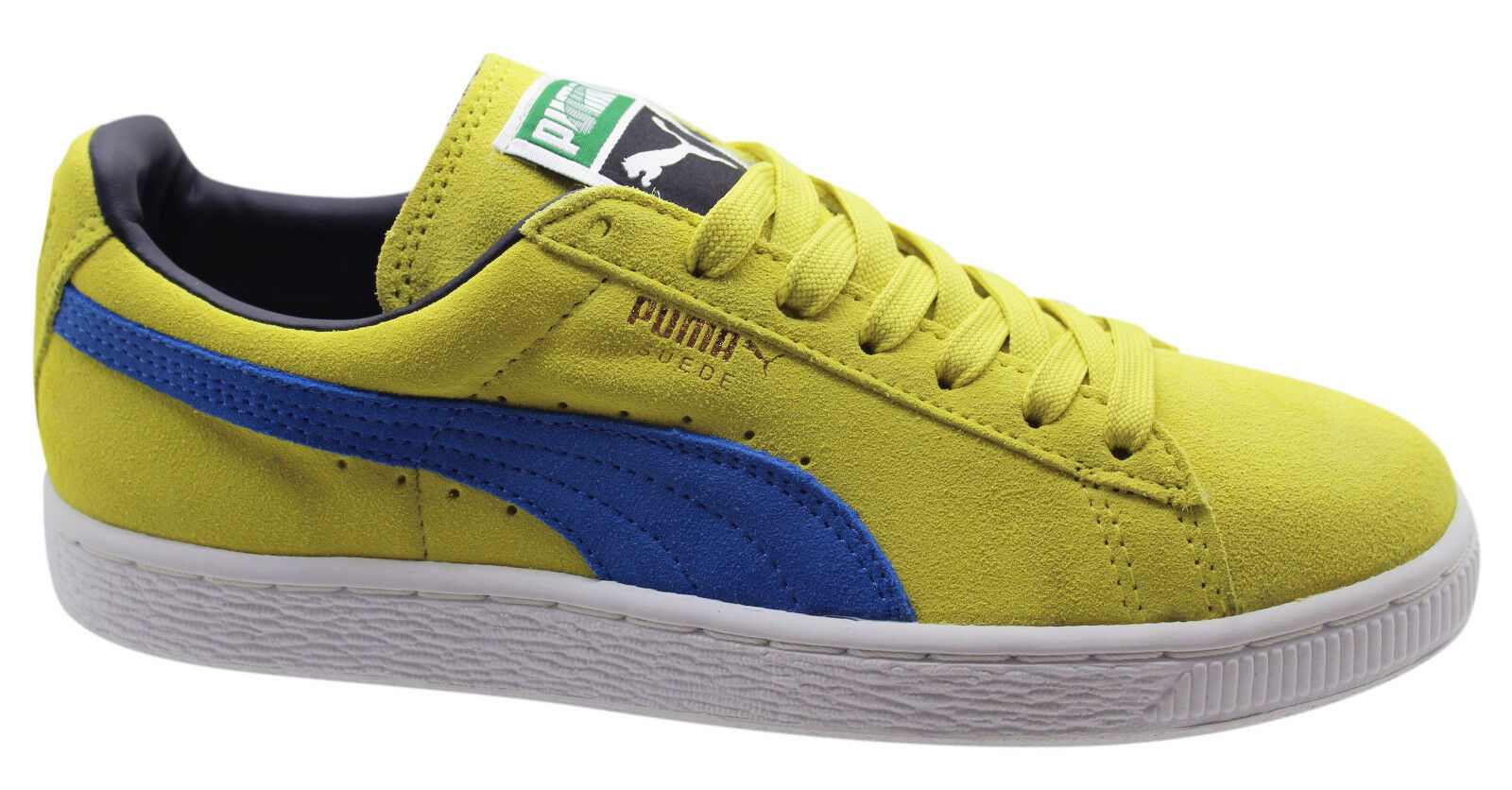 Puma Suede Classic Mens Lace Up Casual Trainers Green Sheen 352634 76 U68