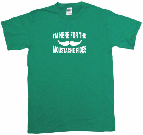 I/'m Here For The Moustache Rides Womens Tee Shirt Pick Size Color Petite Regular