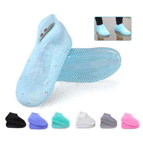 Reusable Waterproof Slip Resistant Fast Hand-Free Boot Shoe Sock Gel Shoe Cover