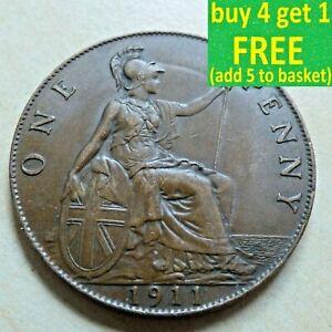 King George V One 1 penny choix 1911-1936 choisissez votre propre Choisir Date