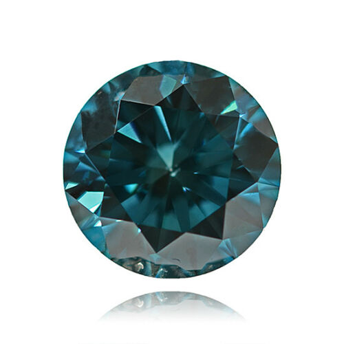 Impresionante 2mm rara mejorado AZUL//VERDE NATURAL diamante africano