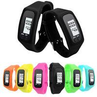 Digital Lcd Pedometer Wrist Step Run Walking Distance Calorie Counter Bracelet
