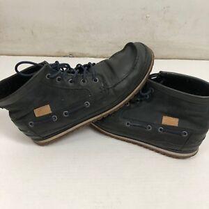 6cd848ba435 Lacoste Sauville Mid Black Navy Sz 12 Chukka Boot Mid 8 SRM | eBay