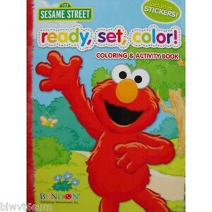 Sesame Street, Ready, Set, Go Jumbo Coloring Book with Stickers-See ...