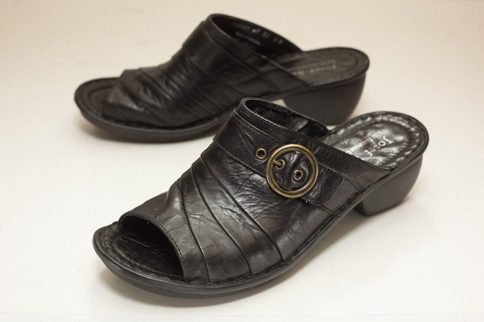Josef Seibel US 8.5 Black Sandals Women's EUR 40
