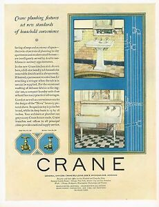 1920s-BIG-Vintage-Crane-Bathroom-Kitchen-Sink-Fixture-Decor-Art-Print-Ad