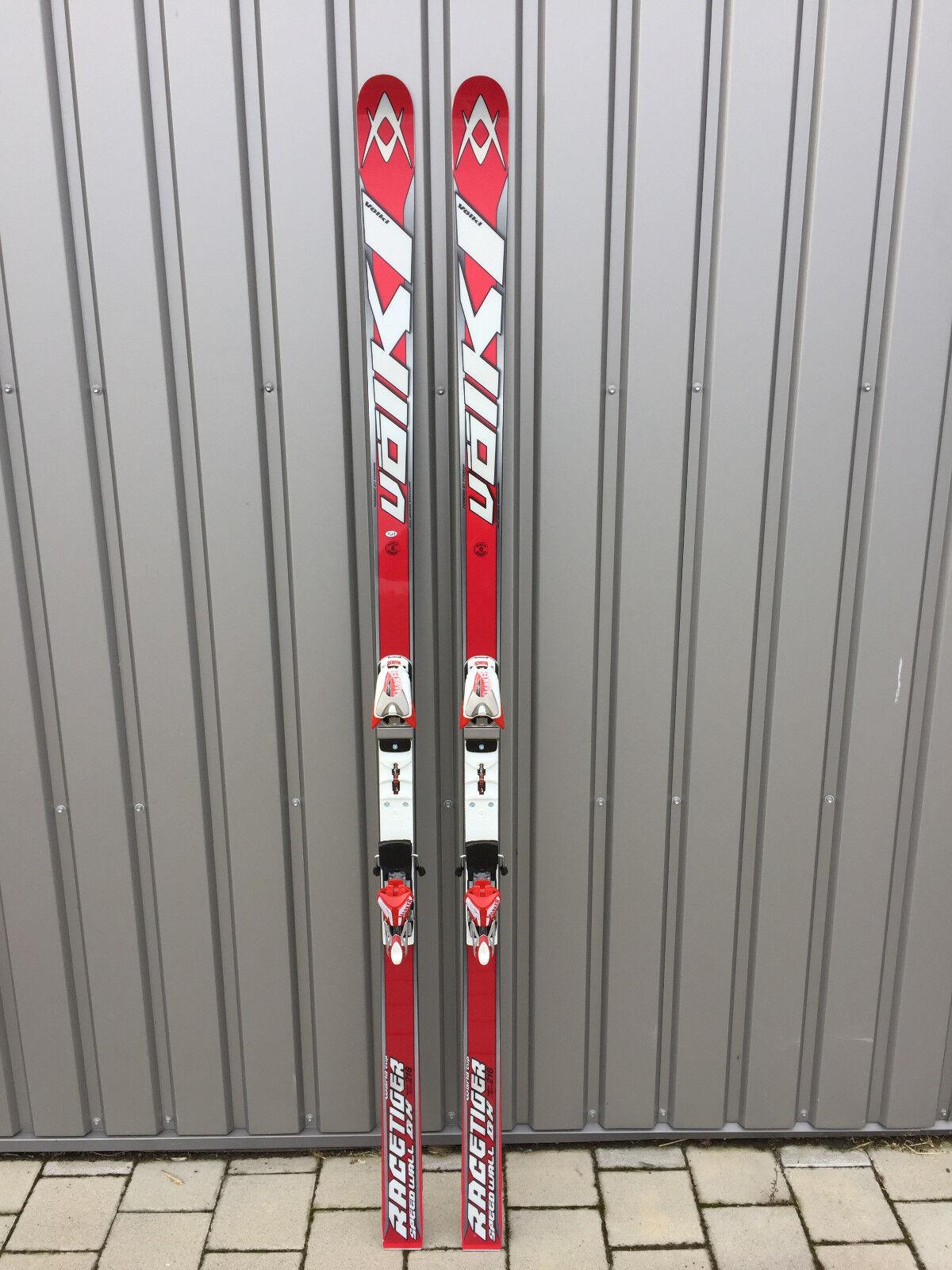 VÖLKL RACETIGER SPEEDWALL DH WORLDCUP Renn-Ski Set 210cm / 45m Radius NEU