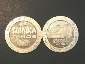 1967-SAHARA-TAHOE-5-00-Gaming-Token-Sterling-Silver-40-Gram-tube